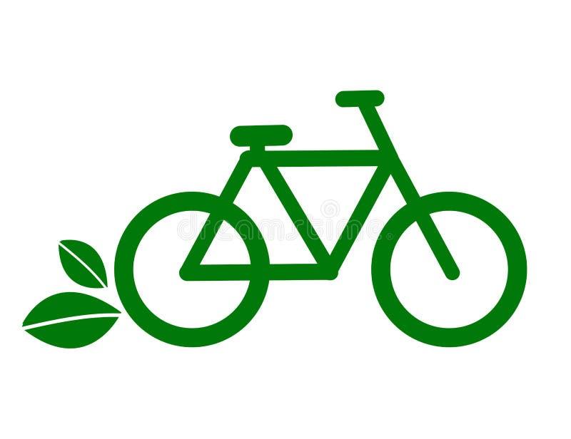 Icône de vélo d'Eco - vecteur illustration libre de droits