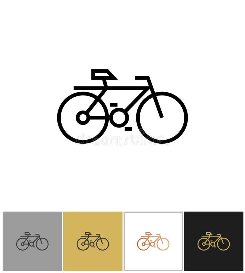 Icône de vélo, symbole de bicyclette ou signe faisant du vélo de voyage illustration libre de droits