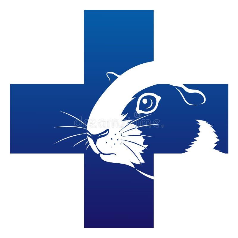 Icône de vétérinaire de cobaye illustration stock