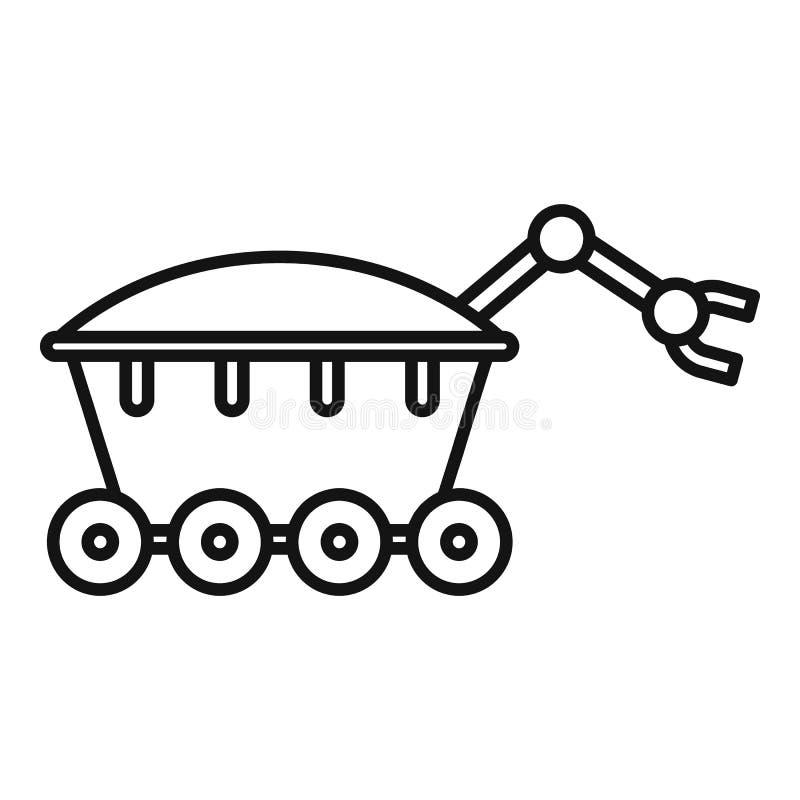 Icône de vagabond de l'espace, style d'ensemble illustration stock
