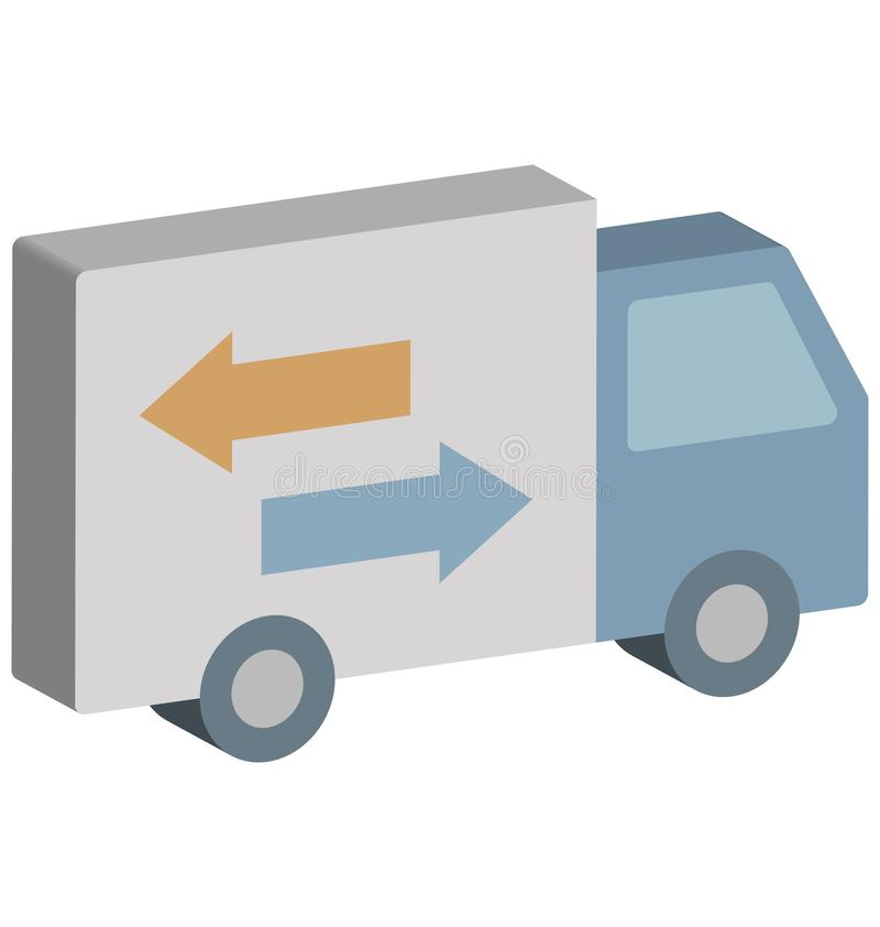 Icône de Van Isolated Isometric Vector de la livraison qui peut facilement modifier ou éditer illustration de vecteur