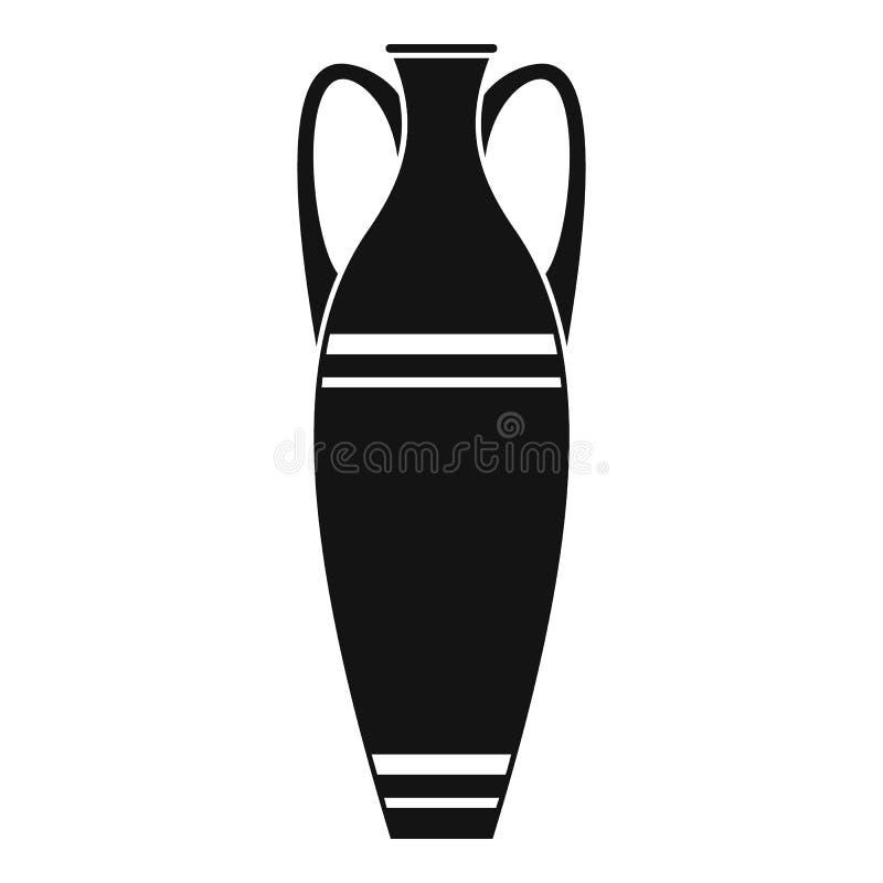 Icône de vase, style simple illustration de vecteur