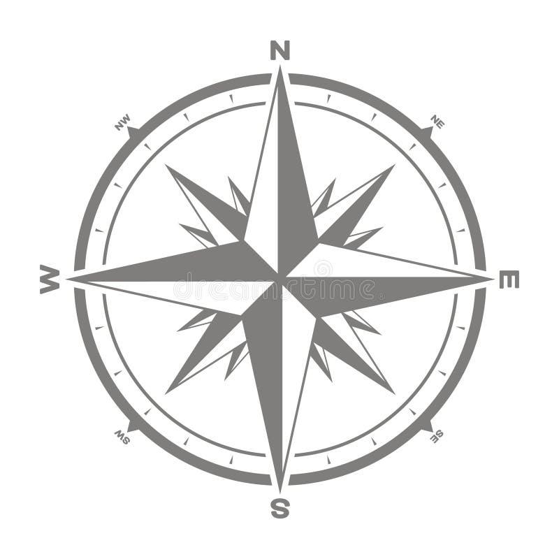 Icône de vecteur avec la rose de boussole illustration libre de droits