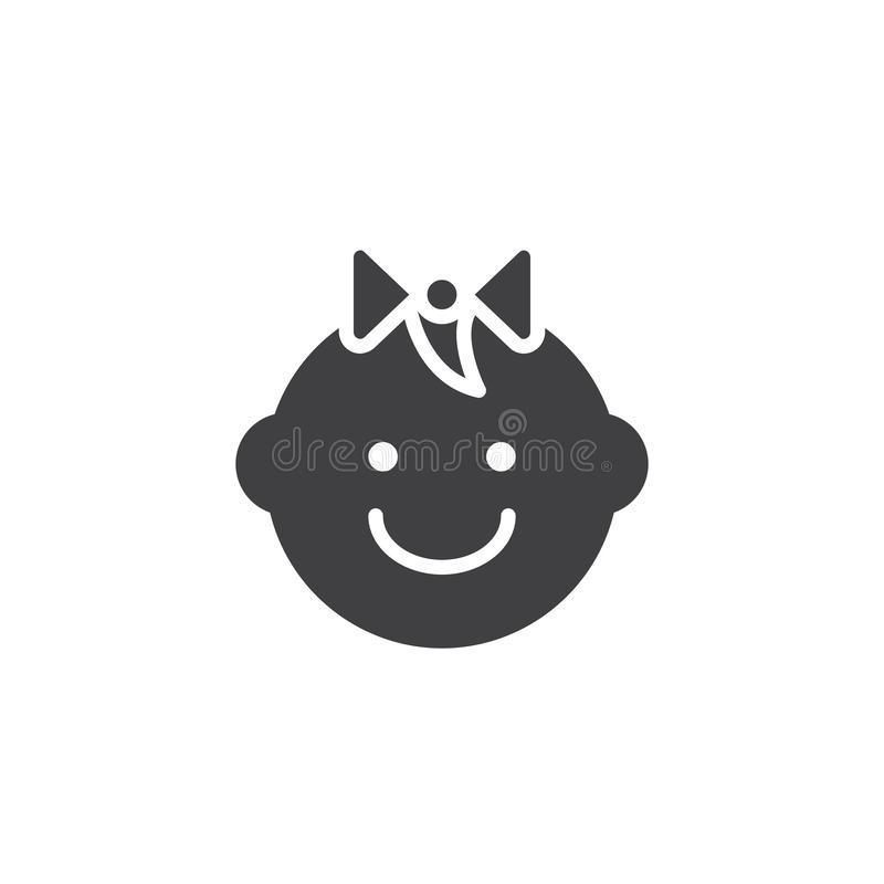 Icône de vecteur de bébé illustration libre de droits