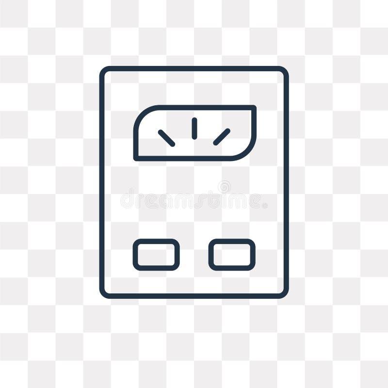 Icône de vecteur de balance d'isolement sur le fond transparent, l illustration de vecteur