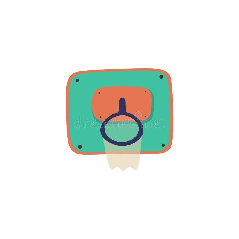 Icône de vecteur de bande dessinée de panier Illustration de vecteur de sport Icône de basket-ball, style puéril de bande dessiné illustration libre de droits