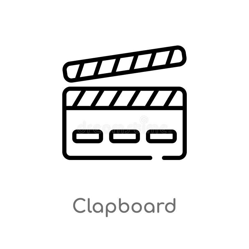 icône de vecteur de bardeau d'ensemble ligne simple noire d'isolement illustration d'élément de divertissement et de concept d'ar illustration stock