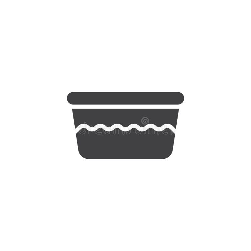 Icône de vecteur de bassin de l'eau illustration stock