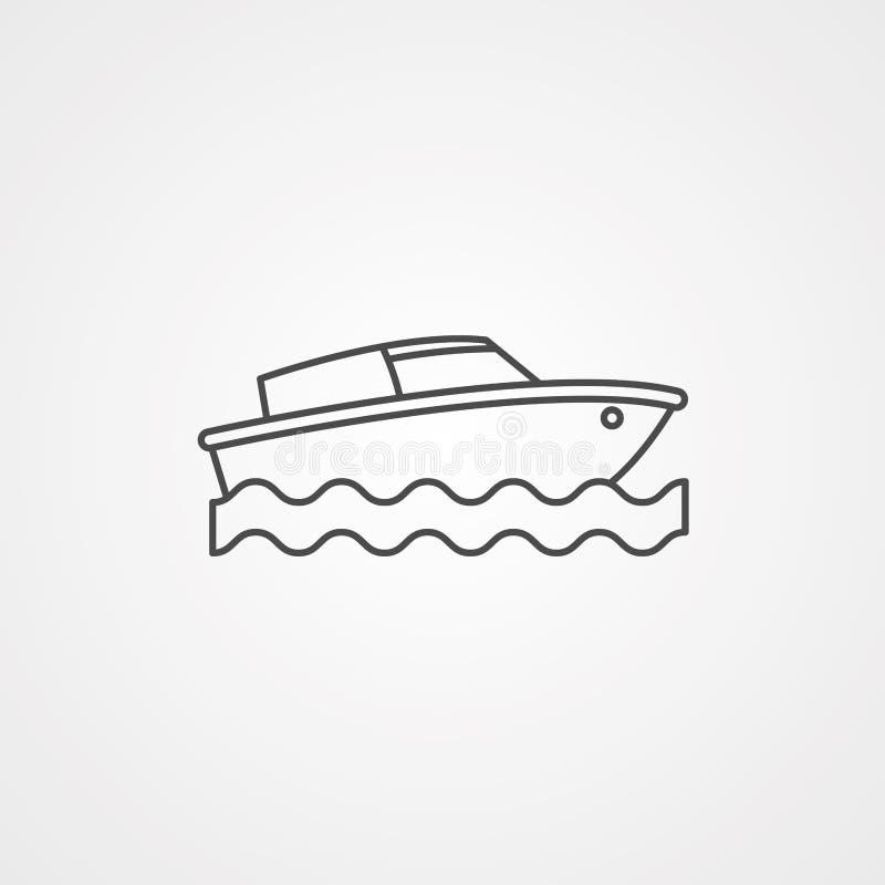 Icône de vecteur de bateau illustration de vecteur