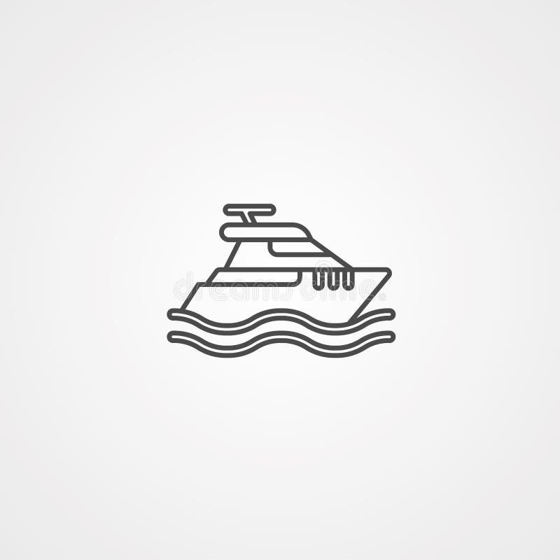 Icône de vecteur de bateau illustration stock