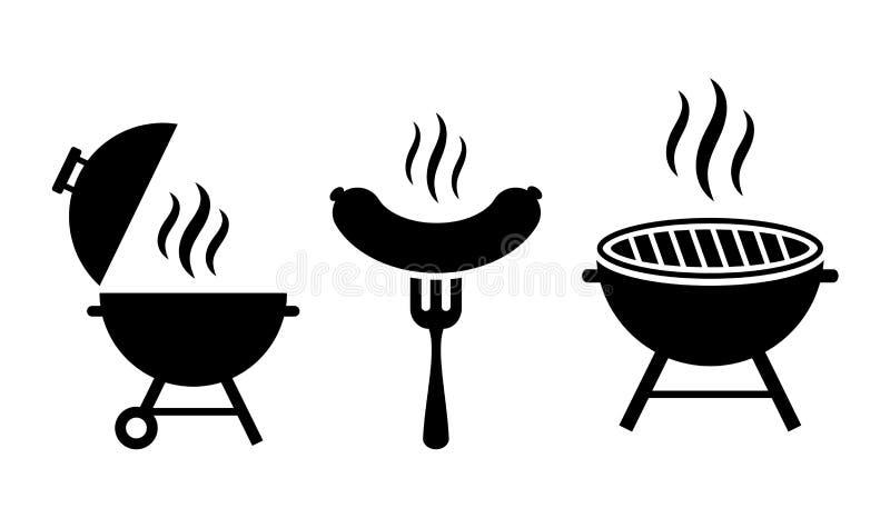 Icône de vecteur de BBQ de gril illustration de vecteur