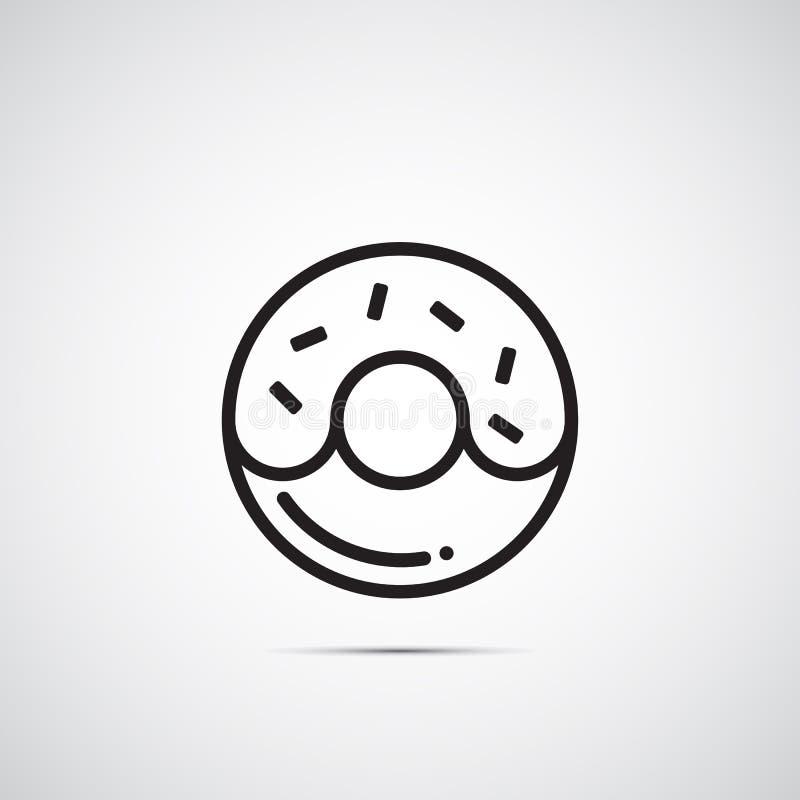Icône de vecteur de beignet illustration libre de droits