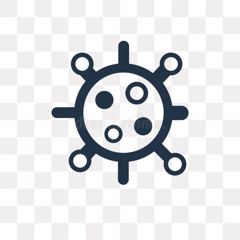Icône de vecteur de biologie d'isolement sur le fond transparent, biologie illustration de vecteur