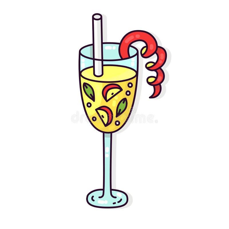 Icône de vecteur de boissons de cocktail illustration de vecteur