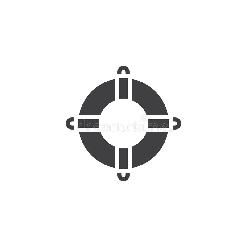 Icône de vecteur de bouée de sauvetage illustration de vecteur