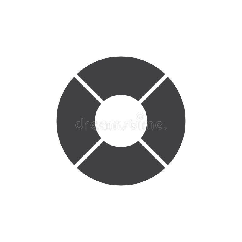 Icône de vecteur de bouée de sauvetage illustration stock