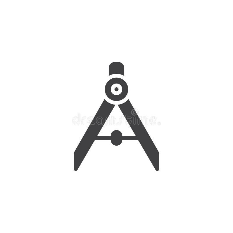 Icône de vecteur de boussole illustration libre de droits