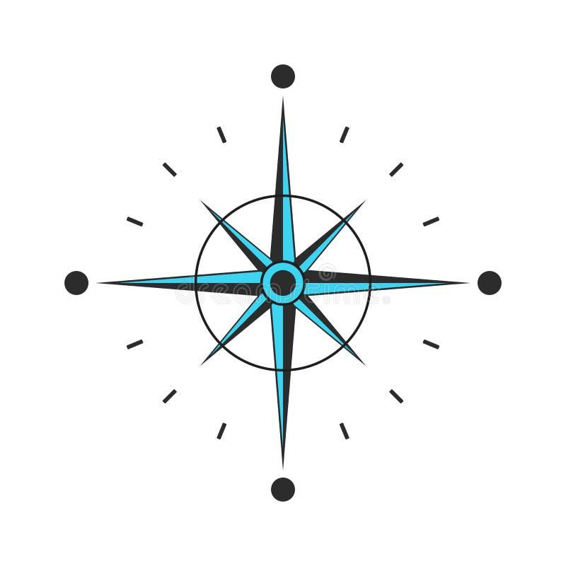 Icône de vecteur de boussole Navigation et signe de déplacement Boussole noire avec le vecteur eps10 de flèches illustration de vecteur