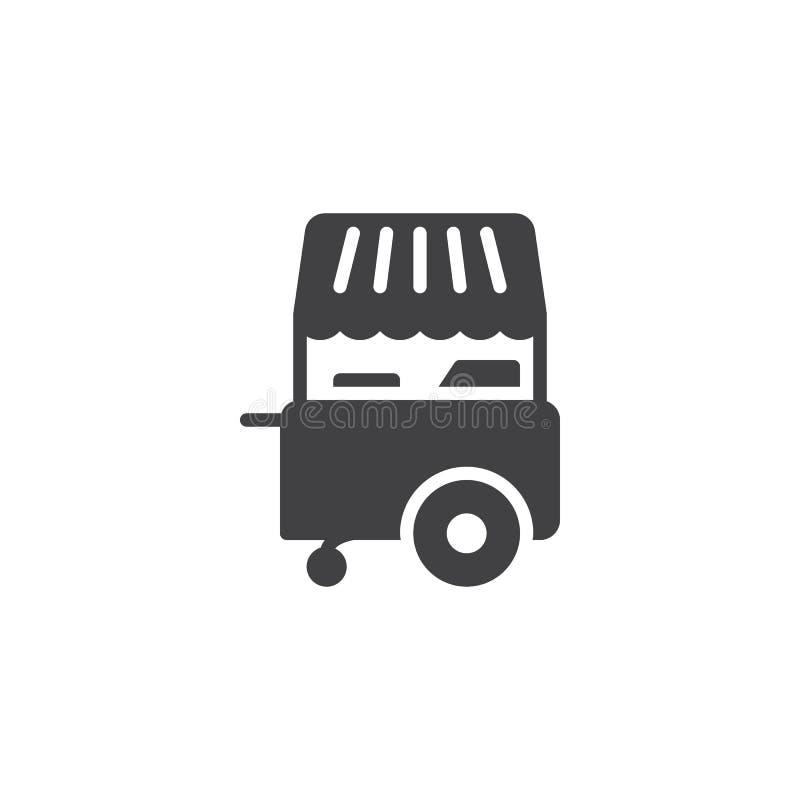 Icône de vecteur de boutique de stalle de crème glacée  illustration libre de droits