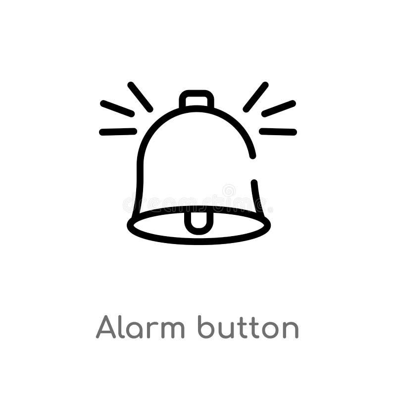 icône de vecteur de bouton d'alarme d'ensemble r Vecteur Editable illustration libre de droits