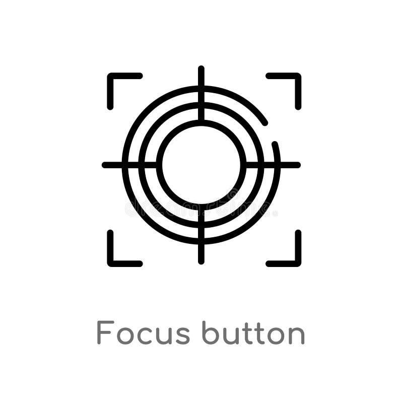 ic?ne de vecteur de bouton de foyer d'ensemble ligne simple noire d'isolement illustration d'?l?ment de concept de formes Course  illustration stock