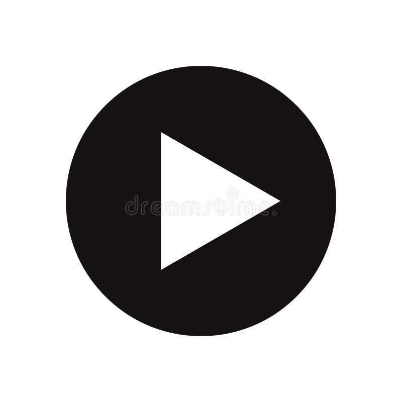 Icône de vecteur de bouton de jeu, illustration populaire illustration de vecteur