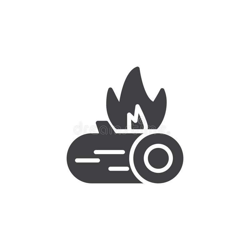Icône de vecteur de brûlure de feu illustration libre de droits