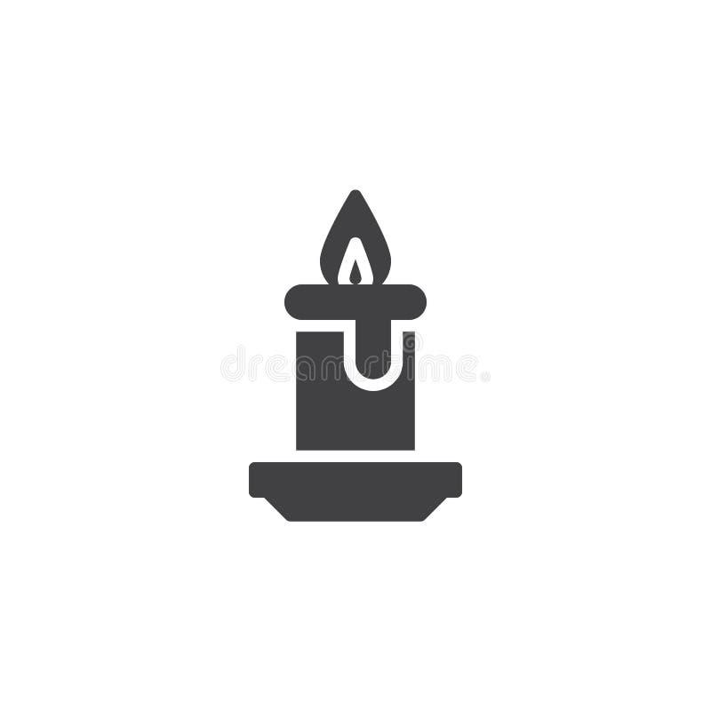 Icône de vecteur de brûlure de lumière de bougie illustration stock