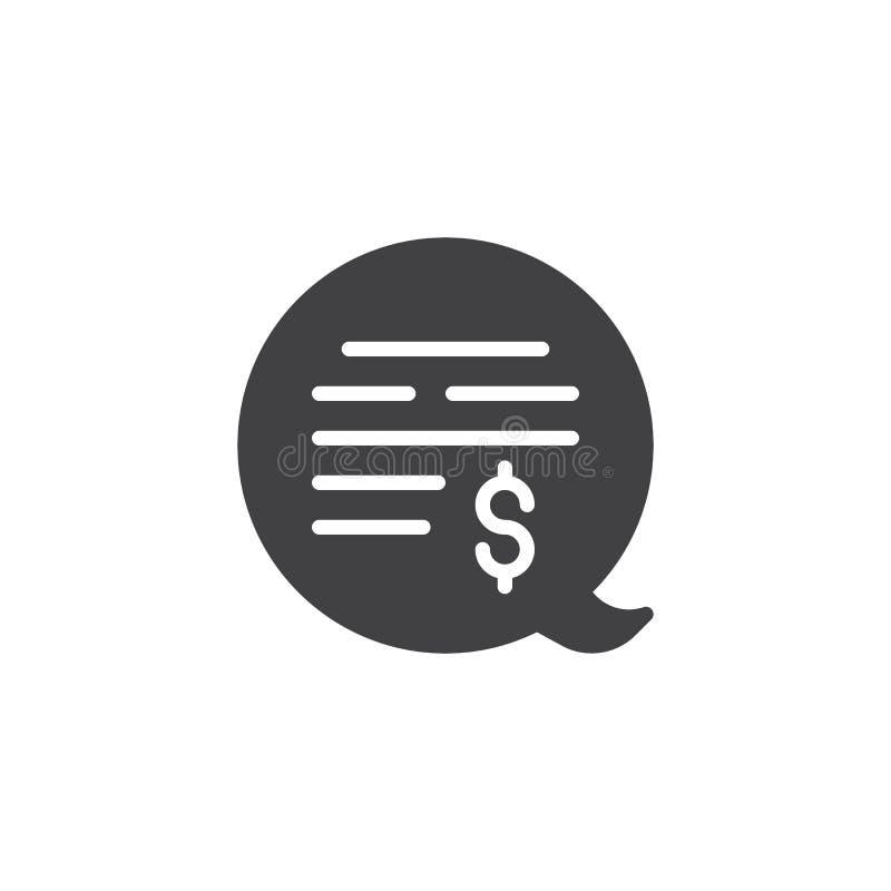 Icône de vecteur de bulle de causerie d'argent illustration stock