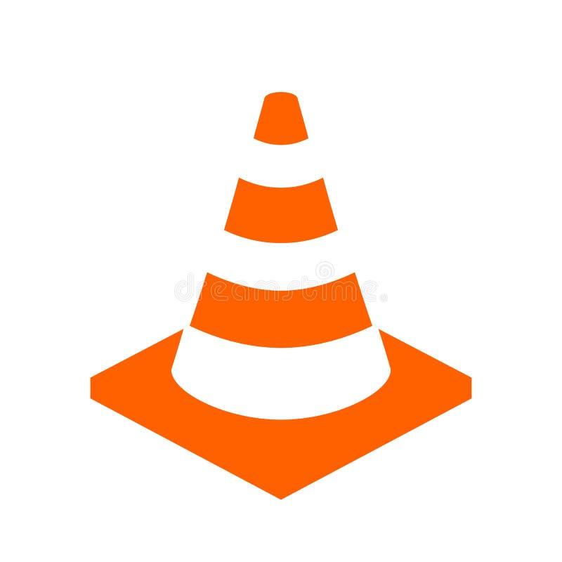Icône de vecteur de cône de construction illustration libre de droits