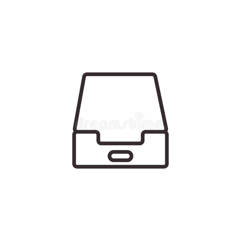 Icône de vecteur de caisse de dossier, pixel Eps10 parfait Symbole de bureau photographie stock libre de droits
