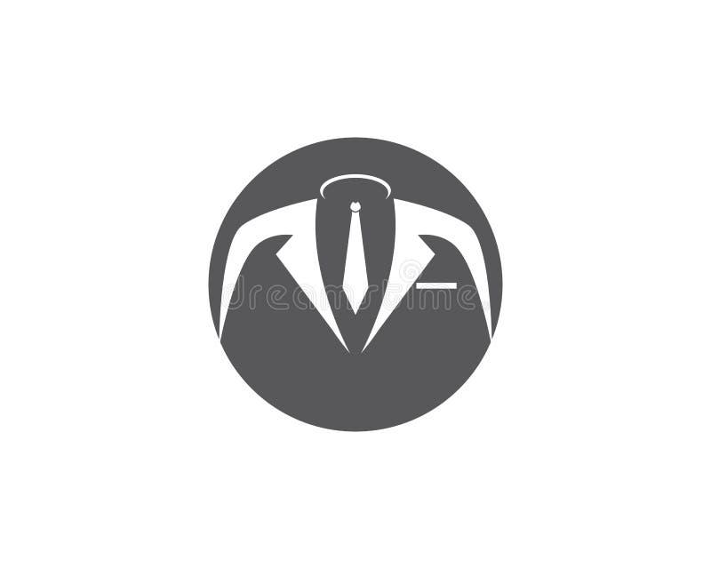 Icône de vecteur de calibre de logo de smoking illustration libre de droits