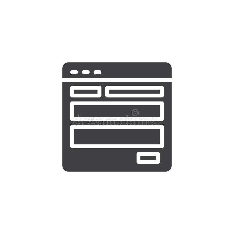 Icône de vecteur de calibre de site Web illustration de vecteur