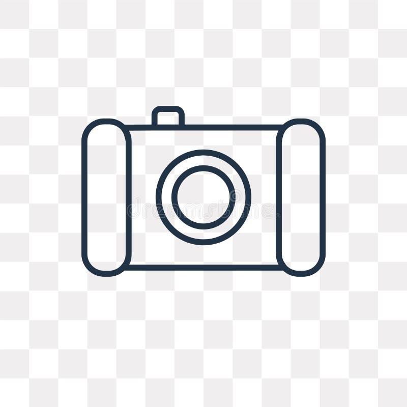 Icône de vecteur de caméra de photo d'isolement sur le fond transparent, lin illustration de vecteur