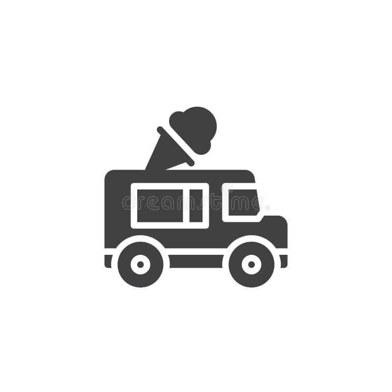 Icône de vecteur de camion de crème glacée  illustration stock