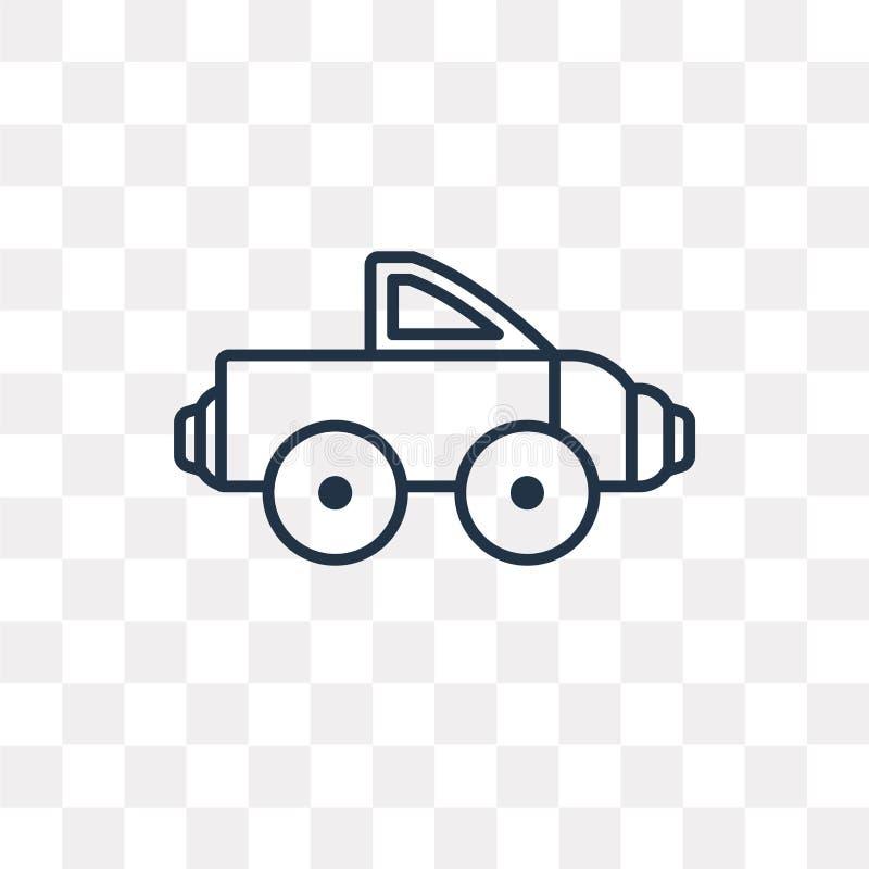 Icône de vecteur de camion pick-up d'isolement sur le fond transparent, lin illustration de vecteur