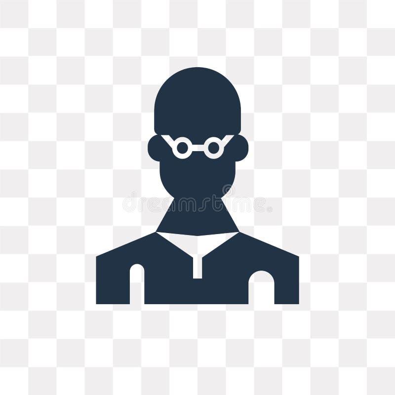Icône de vecteur de candidat d'isolement sur le fond transparent, franc illustration stock
