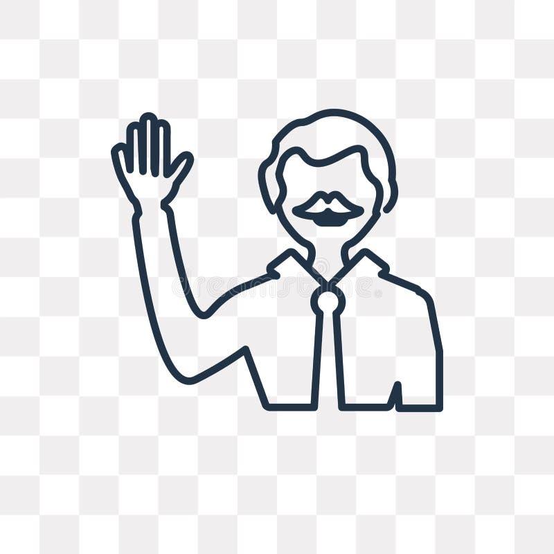 Icône de vecteur de candidat d'isolement sur le fond transparent, linéaire illustration de vecteur