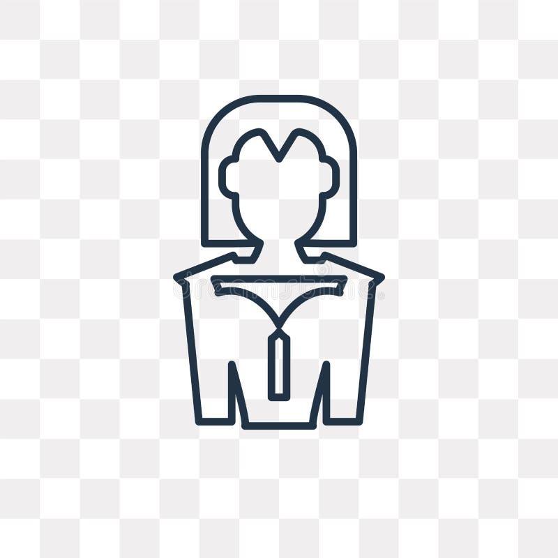Icône de vecteur de candidat d'isolement sur le fond transparent, linéaire illustration libre de droits