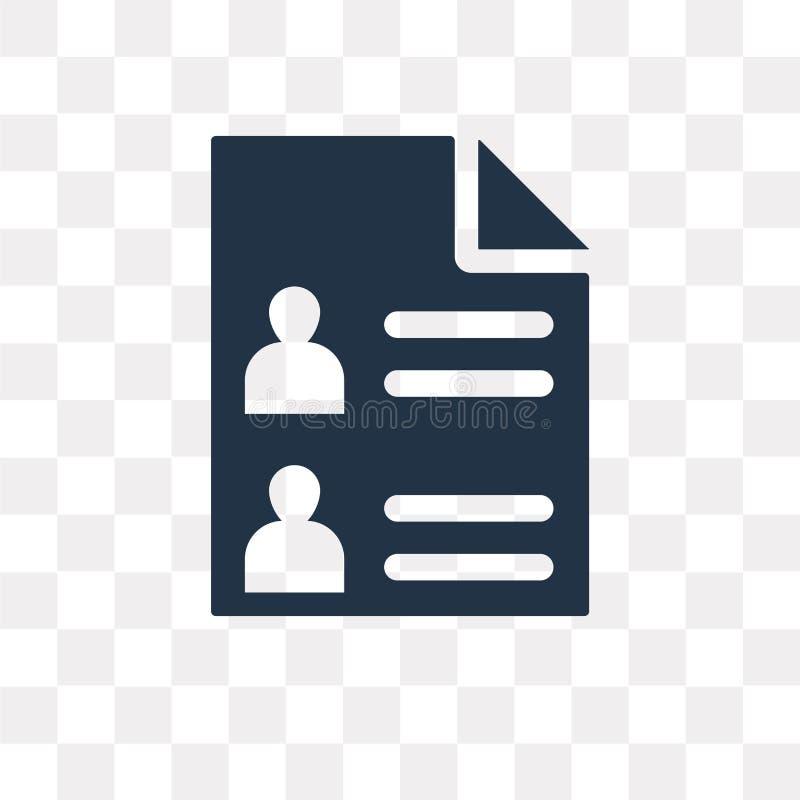 Icône de vecteur de candidats d'isolement sur le fond transparent, Candi illustration libre de droits