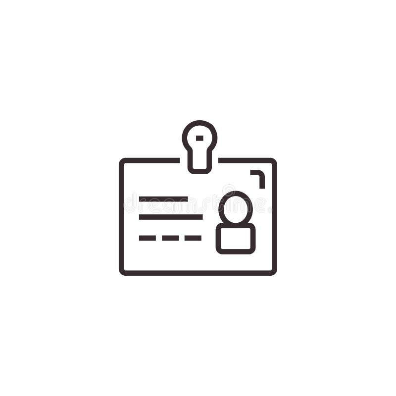 Icône de vecteur de carte d'identité, pixel Eps10 parfait Symbole de bureau photographie stock libre de droits