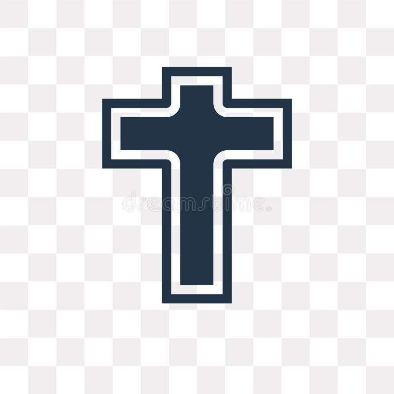 Icône de vecteur de catholicisme d'isolement sur le fond transparent, cathédrale illustration libre de droits