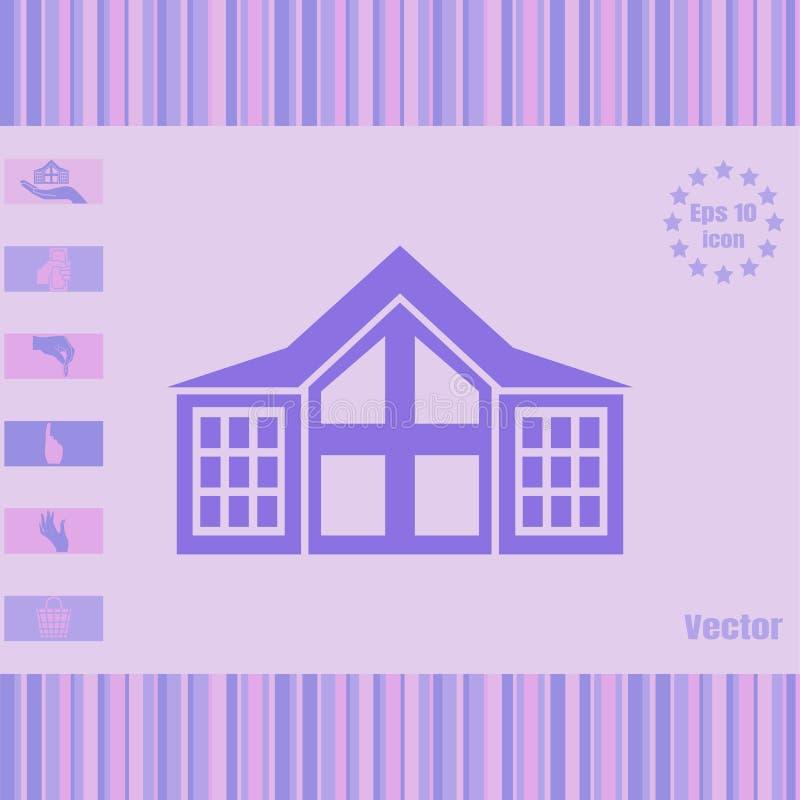 Icône de vecteur de Chambre image stock