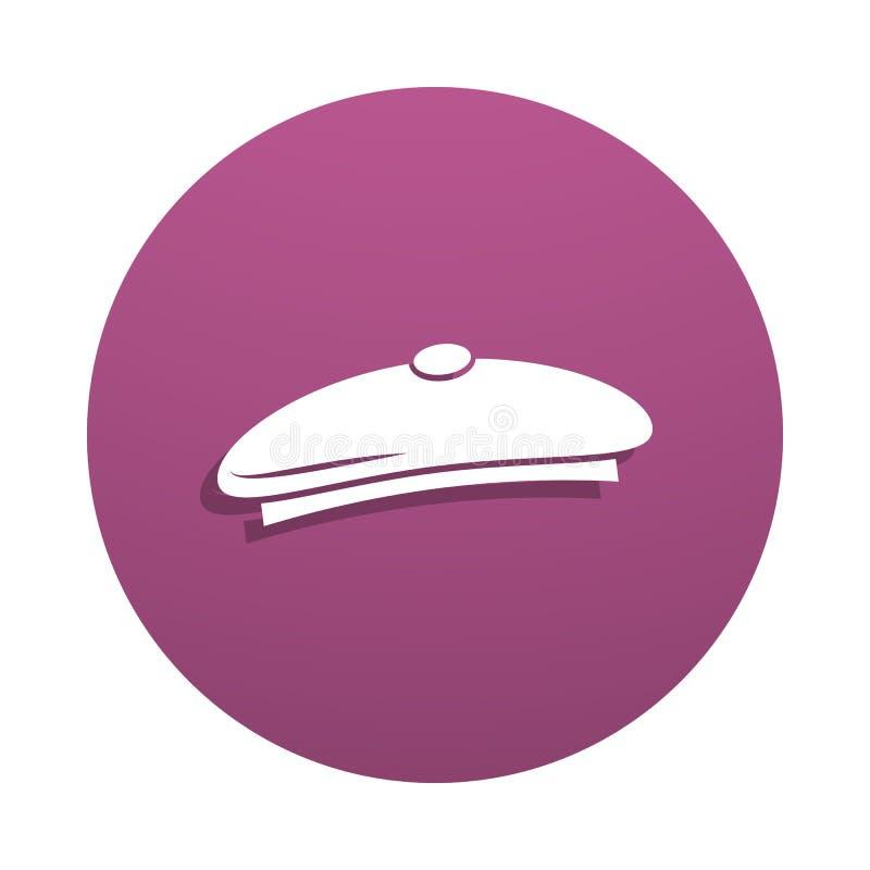 Icône de vecteur de chapeau d'artiste dans le style d'insigne Un de l'icône de collection d'outils d'art peut être employé pour U illustration de vecteur
