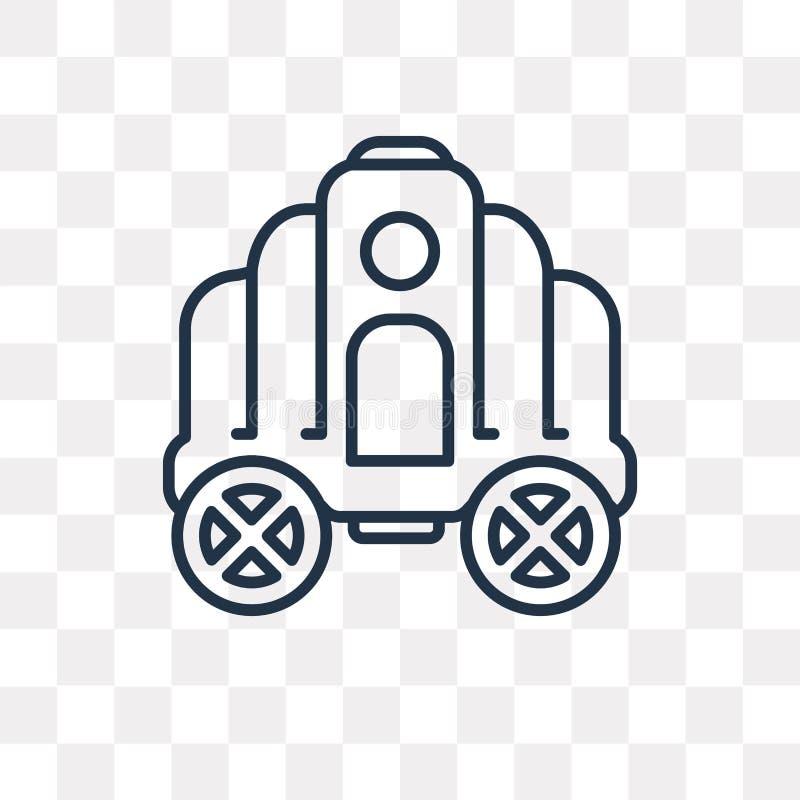Icône de vecteur de chariot de Cendrillon d'isolement sur le backgrou transparent illustration libre de droits