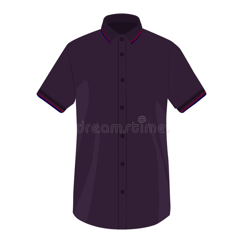 Icône de vecteur de chemise de douille de chemise sur un fond blanc Illustration de T-shirt de polo d'isolement sur le blanc Usag illustration de vecteur