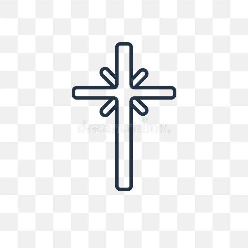 Icône de vecteur de christianisme sur le fond transparent, lin illustration de vecteur