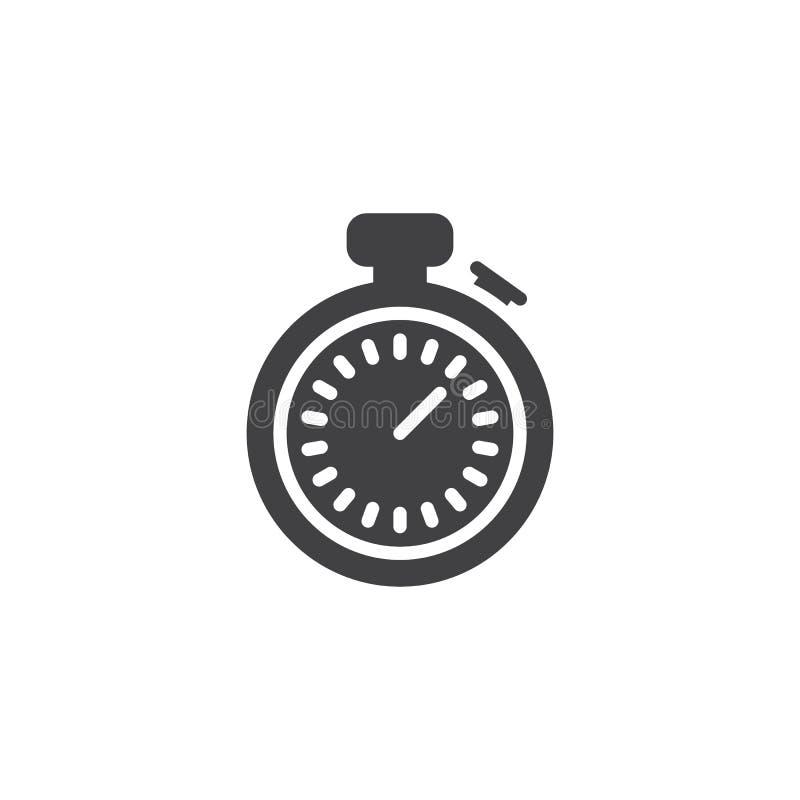 Icône de vecteur de chronomètre illustration de vecteur
