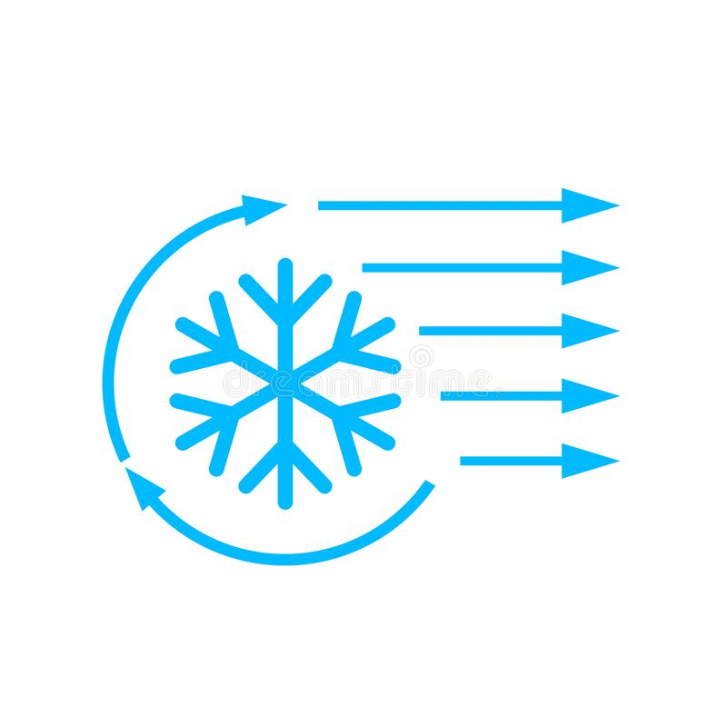 Icône de vecteur de climatisation illustration stock