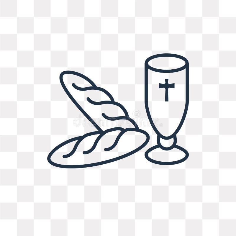 Icône de vecteur de communion sur le fond transparent, linéaire illustration de vecteur
